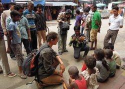 9 Filming in Lajpat Nagar market