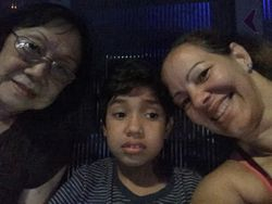 Back at Disney with Abu and Mom