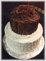 Chocolate and White  Cake