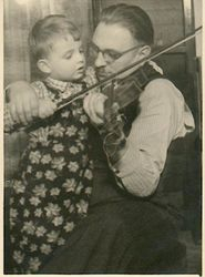 My first violin lesson with my father, at the age of 3...