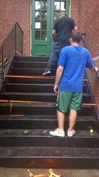 Progress Image 1: Color Galvanized Staircase Installation