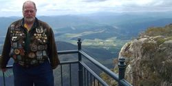 Tom at a Lookout on Mount Buffalo Overlooking the Valley below - Nov 2005