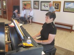 Nancy Lamb Playing at the Reception