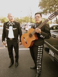 Augie and Robert before the gig
