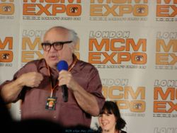 Danny DeVito on stage at MCM