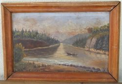 Prieskarinis peizazas rastas Krosnoje. Kaina 52
