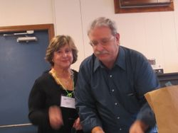 President Harriet Bicksler with Steve White