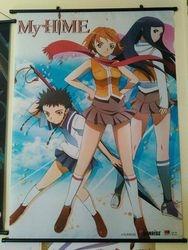Rare My-HiME wall scroll Mai Tokiha Natsuki Kuga and Mikoto Minagi