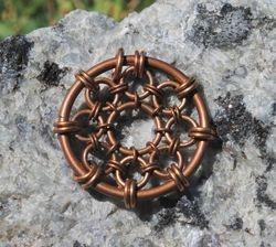 Bronze Mandala Pendant