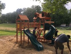 Gorilla playsets wilderness assembly in ellicott city Maryland