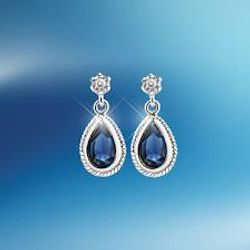 Earings Sapphire Crystal Stone