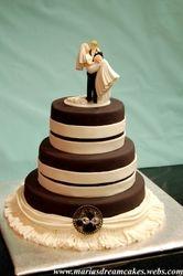 Black and white themed Wedding Cake