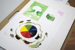 Color wheel practice in beginner Watercolor