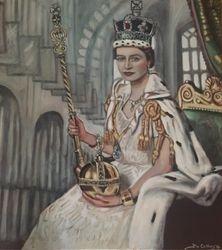 """""""Queen Elizabeth"""",""""The Coronation of Queen Elizabeth"""",""""portrait of Queen Elizabeth"""","""