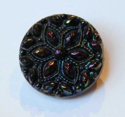 Beaded Flower button #1046