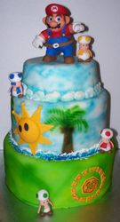Mario Sunshine Cake