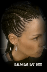Design Corn Row braids by Bee with natural hair