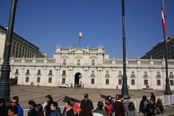 Presidential palace in Santiago, Chili