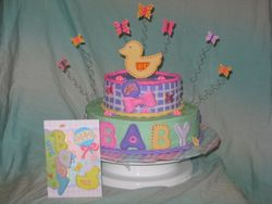 Baby Shower Duck Cake