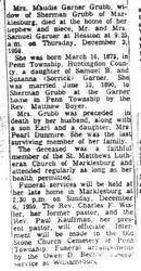 Grubb, Maudie Garner 1959