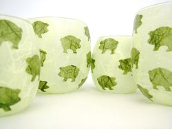 Apple Greena and Olive Green Pigs