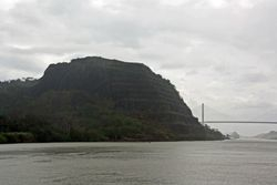 Panama Canal Cruise - approaching continental divide