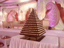 Large Ferreros Towers includes ferreros, setup, table hire and dressed.