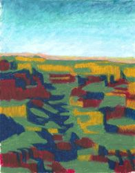 Canyonscape, Oil Pastel, 11x14, Original Sold