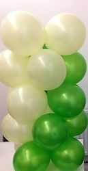 White & Green Balloon Column