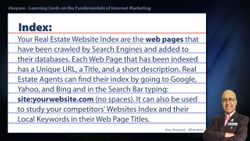 Index - Real Estate SEO Short Definition