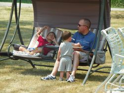 Kids, shade and a swing