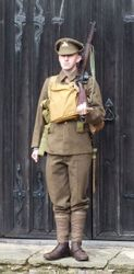 Gor-Blimey, SD trousers & modified tunic, worn by David Vyse Bell-Hartley