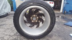 Passenger side front tire