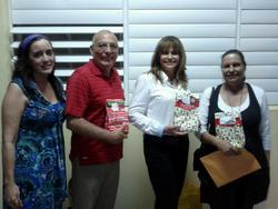 Dalia Feliciano, Victor Vivo, Wanda Garza y Sheila Alcaraz