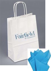 Gift Bags with Rope Handle - New reflective foil-stamped Fairfield logo that really stands out from the crowd! - INCLUDES tissue paper with every gift bag
