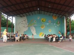 New Mural for Playground Wall