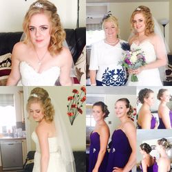 Soft and stunning curls for our beautiful bride Emily