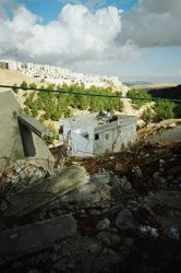 Destroyed Palestinian housing