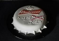 Budweisser Bottle Cap Cake
