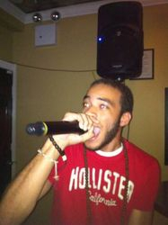Ray bringing it to the crowd at Legendary Friday Night Karaoke!