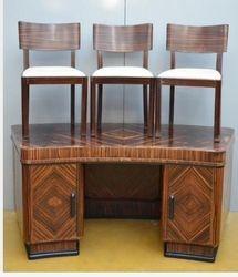 Art Deco Macassar desk
