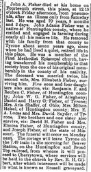 Fisher, John A 1896