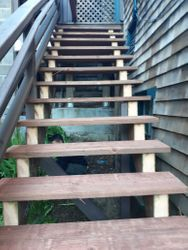 Replaced stairs