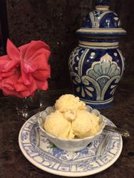 Persimmon Macadamia Nut Ice Cream
