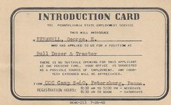 George Kenawell Bulldozer & Tractor Introduction Card