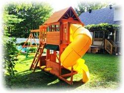 "Big Backyard ""Frontenac II"" Swingset installation: A Saint Lazar Project August 2013"