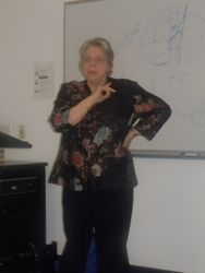 Mary Jo delivering her lecture to FASP conference participants