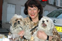 Jilly with dogs, Paris 2006