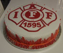 Fire Fighter Retirement Cake