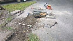 Tank under driveway